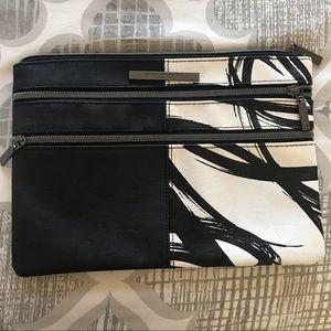 Black and White clutch purse
